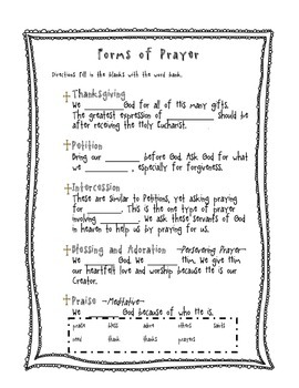 Forms of Prayer