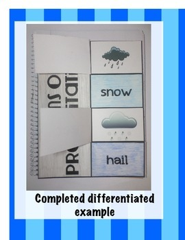Forms of Precipitation Science Interactive Notebook Foldable