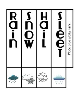 Forms of Precipitation Science Interactive Tower Foldable