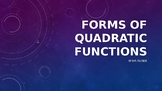 Forms of Quadratic Functions Jeopardy