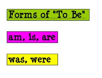 "Forms of ""To Be"""
