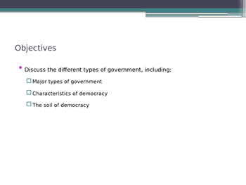 Forms of U.S. American Government - from McGruder Ch 1 Sec 2
