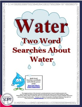 Forms of Water and How Do We Use Water? - Two Word Searches