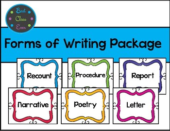 Forms of Writing Package *FREE Updates!