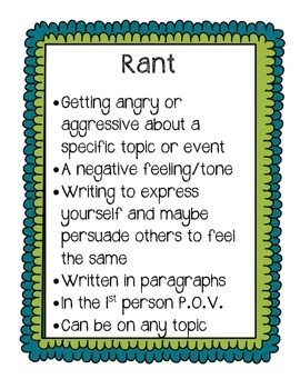 Forms of Writing Classroom Posters