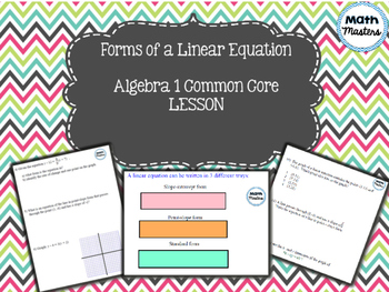 Forms of a Linear Equation