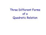 Forms of a Quadratic Relation