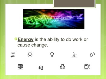 Forms of energy Vocabulary