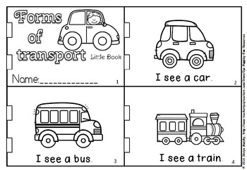 Forms of transport little book.