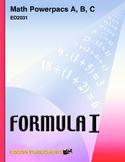 Formula 1 Math Powerpac A Lesson 5, Multiplication Facts through 81