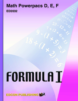 Formula 1 Math Powerpac E Lesson 5, Using Equations to Fin