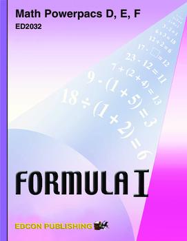 Formula 1 Powerpac E Lesson 6, More Problems Involving Percent