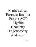 Formula Booklet for High School and College Mathematics Ti