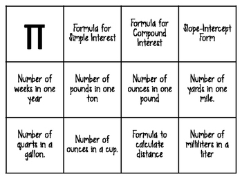 It is an image of Critical 7th Grade Math Bingo Printable