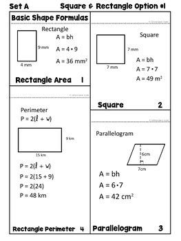 Area, Perimeter, Circumference Formula References