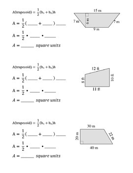 Formula Practice: Area of a Trapezoid