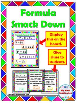 Formula Smack Down - Perimeter, Area & Volume