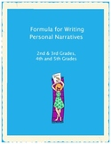 Formula for Writing Personal Narratives