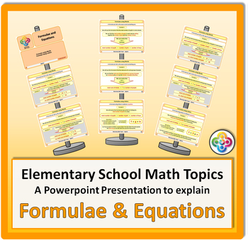 Formulae and Equations for Elementary School Math Powerpoint