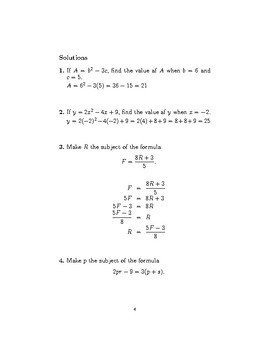 Formulae and equations