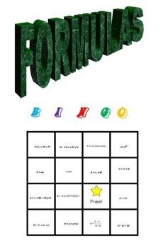 Formulas Bingo