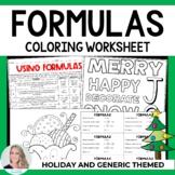 Formulas Coloring Worksheet