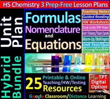 Chemical Formulas & Equations Topic Bundle: 5 Essential Skills Guided Lessons