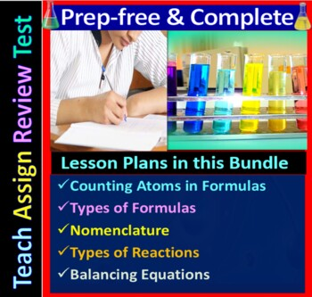 Chemical Formulas & Equations Topic Bundle: 3 Essential Skills Worksheets