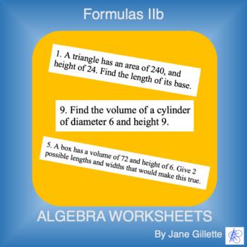 Formulas IIb