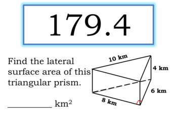 Formula Loop Game: Area of Composite Figures & Circles; Volume-Prisms & Pyramids