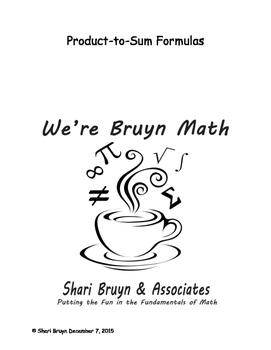 Formulas - Product to Sum