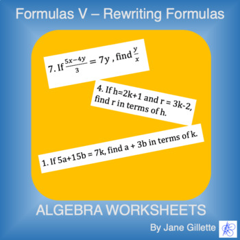 Formulas V - Rewriting Expressions