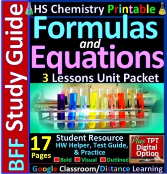 Formulas and Equations  BFF: Homework Helper and Test Prep Guide