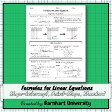 Formulas for Linear Equations [Notes]