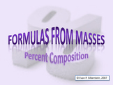 Formulas from Masses