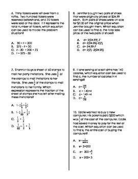 Formulating Equations