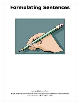 Formulating Sentences