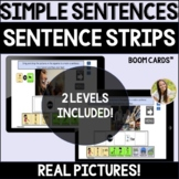 Formulating Simple Sentences by Answering Who, What, Where