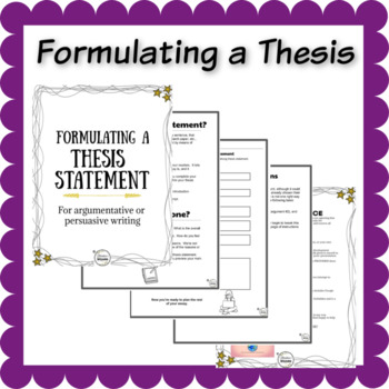 writing a thesis statement   persuasive writing by literature wizard