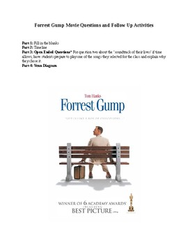 Forrest Gump Movie Questions and Follow Up Activities