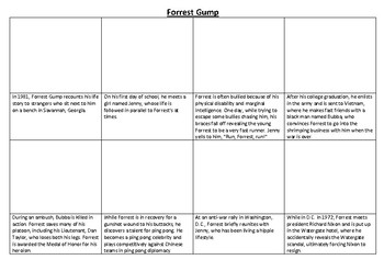 Forrest Gump Comic Strip and Storyboard