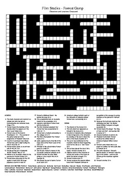Forrest Gump (Movie) Crossword Puzzle