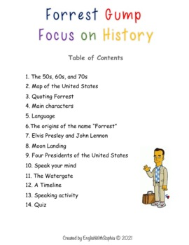 Forrest Gump, focus on history. Learn through Movies.