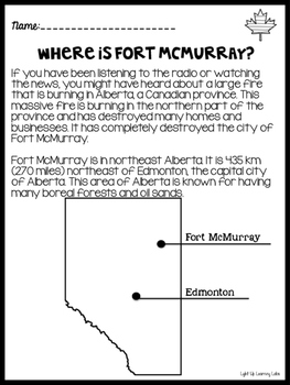 Freebie! Fort McMurray Fire: Learning More