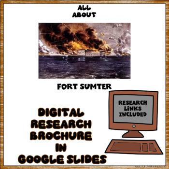 Fort Sumter Digital Research Brochure in Google Slides™