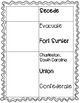 Fort Sumter Reading Passage and Vocabulary Organizer