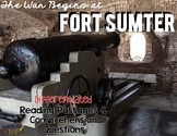 Fort Sumter: The Beginning of the Civil War Reading Passages for SS Integration
