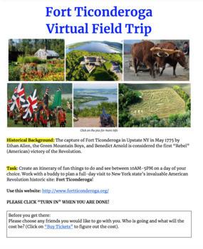 Fort Ticonderoga Internet Field Trip Activity