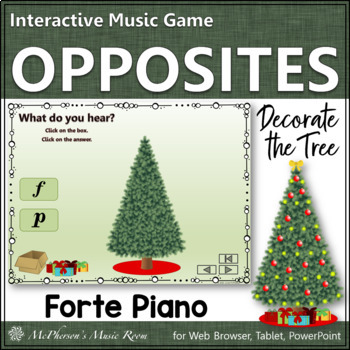 Forte or Piano Interactive Music Game {Decorate the Christmas Tree}