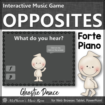 Forte vs Piano - Ghostie Dance Interactive Music Game {dynamics}